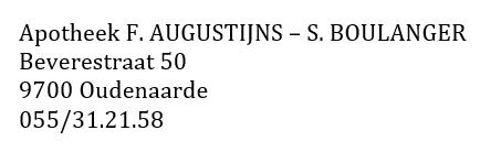 Apotheek F. AUGUSTIJNS – S. BOULANGER